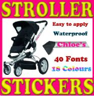 PERSONALISED PUSHCHAIR / PRAM / STROLLER DECALS